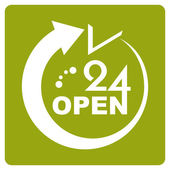 24 Hours Open icon — Stock Vector