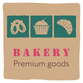 Bakery signboard design — Stock Vector