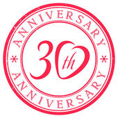 30 years anniversary stamp — Stock Vector