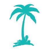 Hand drawn coconut tree — Stock Vector