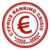 Cyprus banking crisis stamp — Stock Vector