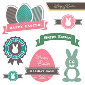 Easter theme design elements — Stock Vector