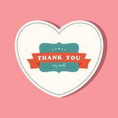 Bedankkaart — Stockvector