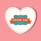 Thank you card — Vettoriale Stock