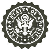 United States of America stamp — Stock Vector