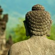 Stoned image of Buddha in Borobudur, Indonesia — Stok fotoğraf