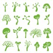 Green trees set — Stock Vector