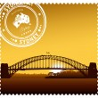 Ilustración de Sydney harbour bridge vector — Vector de stock