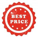 Best price stamp — Stock Vector