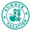 Stock Vector: Summer vacation stamp