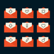 Email icons — Stock Vector