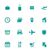 Airport and airlines services icons — Stock Vector