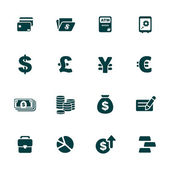 Finance and money theme icons set — Stockvektor