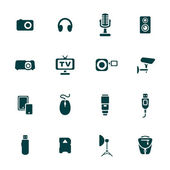 Photo and other technical devices icons set — Stock Vector