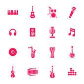 Icone della musica — Vettoriale Stock