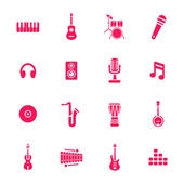 Music icons — Vettoriale Stock