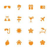 Sommer urlaub thema ikonen — Stockvektor