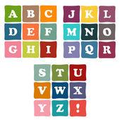 Alphabet blocks collection — Stock Vector