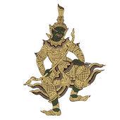 Thai warrior demon vector illustration — Stock Vector