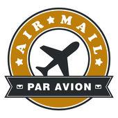 航空邮件标签 — 图库矢量图片