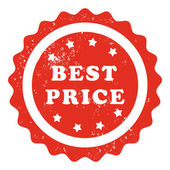Mejor sello precio — Vector de stock