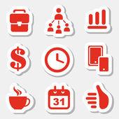 Zakelijke stickers — Stockvector