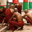 Stock Photo: Monks work