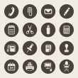 Office supplies icons set — Stock Vector #29282483