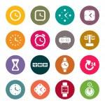 relojes y tiempo tema iconos conjunto — Vector de stock