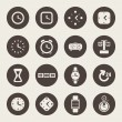 Clocks and time theme icons set — Stock Vector