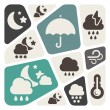 Weather theme background — Image vectorielle