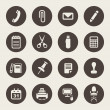 Office supplies icons set — Stock Vector