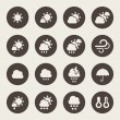 Weather icons set — Stok Vektör