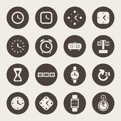 часы и время тема иконы — Cтоковый вектор