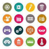 Conjunto de vectores iconos multimedias — Vector de stock