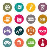 Multimedia icons vector set — Stock Vector