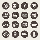 Multimedia icons vector set — Stock Vector