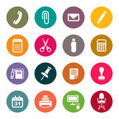 Office supplies icons set — Vector de stock