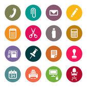 Conjunto de ícones de material de escritório — Vetorial Stock