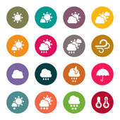 Weather day icons set — Stock Vector