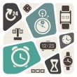 Time and clocks theme background — Imagen vectorial
