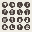 图库矢量图片: Hairdressing equipment icons