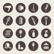 Stock Vector: Hairdressing equipment icons