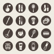 Beauty and makeup icons — Imagen vectorial