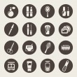 Beauty and makeup icons — Stockvectorbeeld