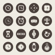 Stock Vector: Clocks and time theme icons set