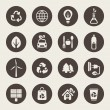 Vector de stock : Eco theme icons set