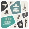 Vector de stock : Hairdressing background