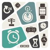 时间和时钟主题背景 — 图库矢量图片