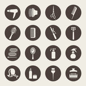 Hairdressing equipment icons — Stock Vector